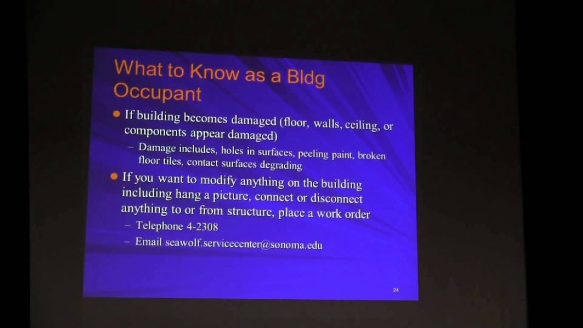 Sonoma State University – Lead Awareness Training – August 5, 2014